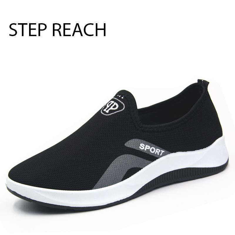 STEPREACH Brand shoes men tenis masculino adulto sneakers breathable light mesh air mesh slip-on casual spring/autumn solid basi