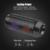 Colorido q615 à prova d' água luz led speaker portátil bluetooth speaker sem fio super bass mini speaker com luzes piscando fm