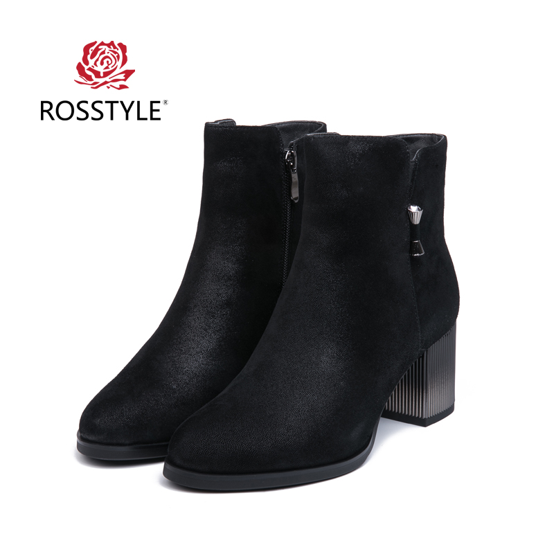 ROSSTYLE Winter Ankle Boots For Ladies Real Leather-based Plush Excessive Heel Footwear Excessive High quality Luxurious Lady Fur Boots Black BootsB4 Ankle Boots, Low-cost Ankle Boots, ROSSTYLE Winter Ankle...