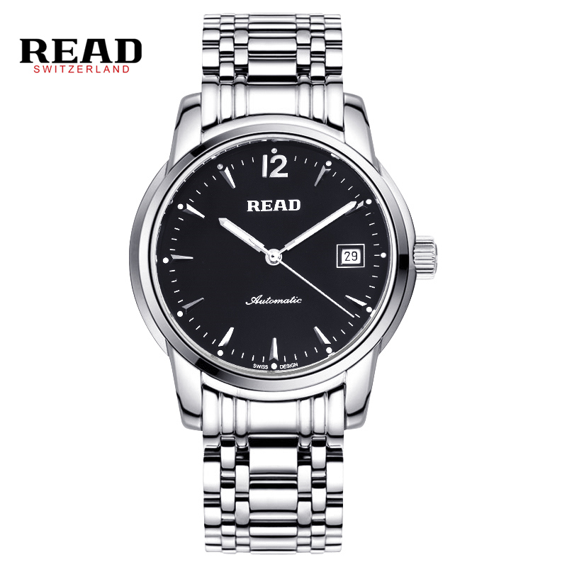 READ men automatic mechanical watches Chinese luxury brand fashion the tourbillon stainless steel waterproof sports watch R8001 fashion luxury brand read leather tourbillon watch automatic men wristwatch men mechanical steel watches relogio masculino r671