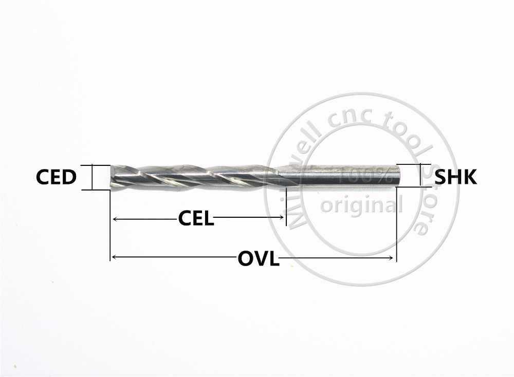 6mm * 15mm, Freeshipping, strumenti di legno CNC, carburo Fresa, la lavorazione del legno inserisci bit router, fresatura di acciaio al tungsteno, MDF, PVC, Acrilico, Legno