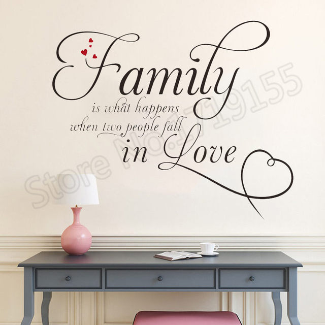 Best Offers YOYOYU Wall Decal Family Letter Quote Interior Vinyl Wall Sticker Bedroom Art Mural Design Home Decoration Modern Decor ZW131