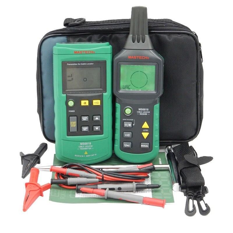Цифровой MASTECH MS6818 advanced провода тестер трекер мульти функциональный кабель детектор 12 ~ 400 В локатор для нахождения подземных труб метр с