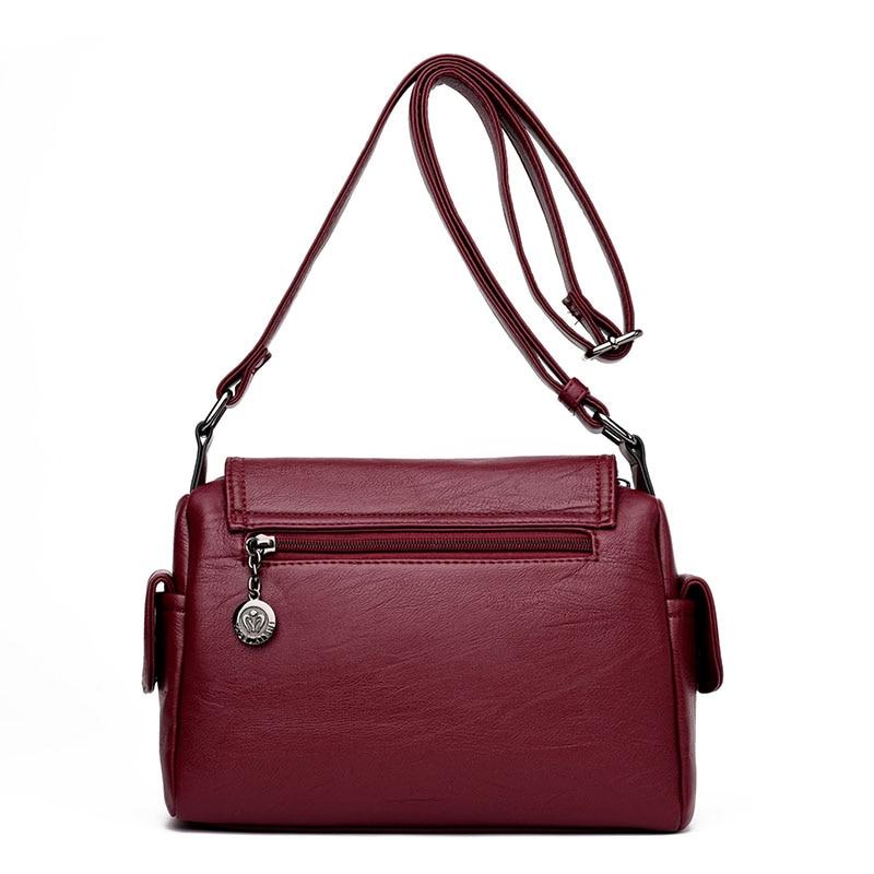 couro genuíno bolsas de grife Women Bag Color : Black, gray, winered, blue, purple