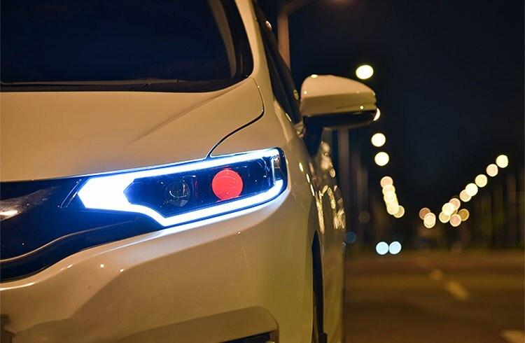 LED phares pour Honda Fit 2014-2017 voiture LED lumières Double xénon lentille voiture accessoires feux de jour feux de brouillard