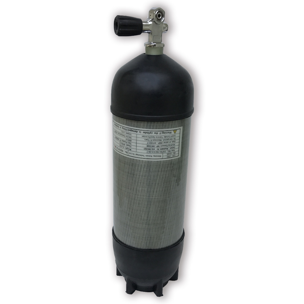 AC109591 Scuba Pcp Rifle 9L diving cylinder CE 30Mpa 4500Psi Air Tank High Pressure Cylinder For