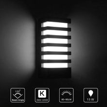 Modern rectangular body COB 15W LED wall lamp IP65 waterproof wall lamp warm white cold white AC 85-265V indoor outdoor lamps