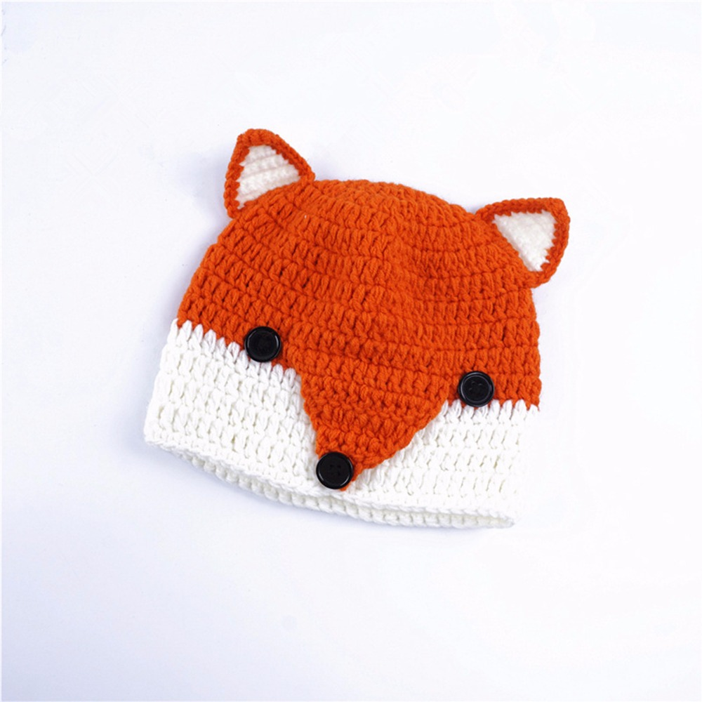 Handmade Crochet Baby Fox Hat Baby Winter Hat Winter Wool Knitted ...