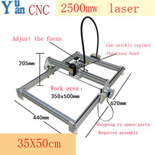 2500mW Laser Power,35*50cm  DIY Laser Engraving Machine Mini Marking Machine, Advanced Toys ,Blue violet light цена