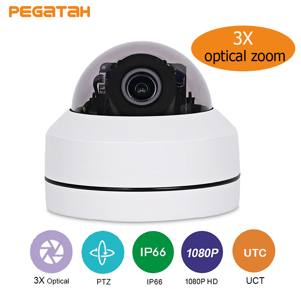 New 2.5inch AHD TVI CVI CVBS 1080P Mini IR PTZ Night Vision Zoom Dome Camera With 3x Optical Motorized Dome Camera Zoom Lens цена