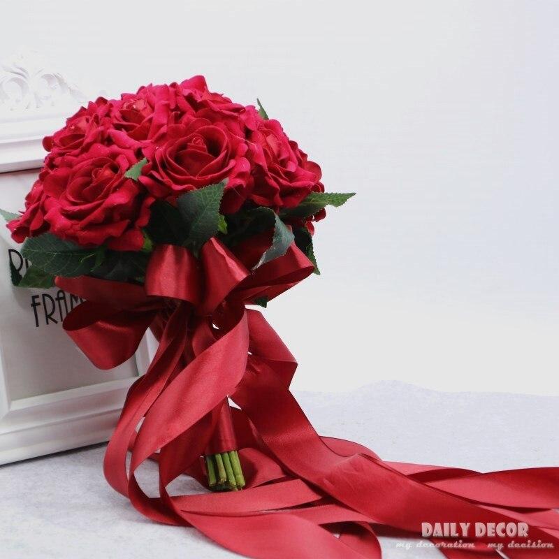 2018 neue hohe simulation samt rose Hochzeit blume Brautjungfer ...