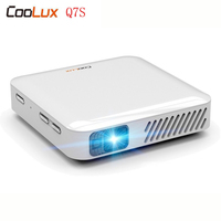 Coolux Q7S Pocket Pico Projector Android 170 ANSI HDMI Wifi 5000mAh With Touch Panel For IPhone