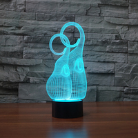 3D Face Mask Table Lamp 7 Colors Mood LED Baby Sleep Nightlight Touch Button USB Lampara