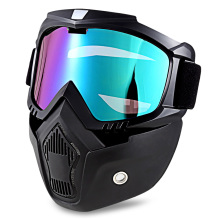 Detachable Harley Style Motorcycle Goggles Masks
