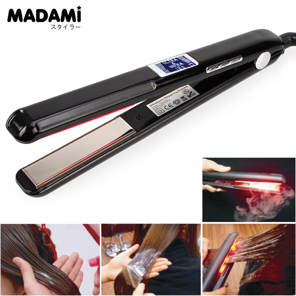 Madami LCD Display Ultrasonic Infrared Hair Care Cold Iron Keratin Argan Oil Recover Hair Damaged Smoothly Hair Treatment Iron