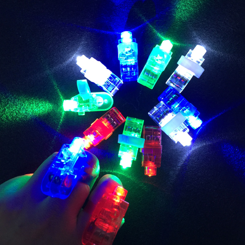 100pcs Finger Light Shiny Neon Stick Beams Led Ring Luminous Toy Glow Dance Shinning Festive Event Party Supply