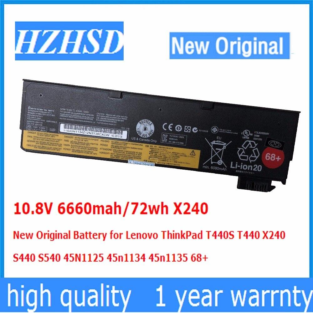 все цены на 10.8V/11.22v 72wh X240 New Original Battery for Lenovo ThinkPad T440S T440 X240 S440 S540 45N1125 45n1134 45n1135 68+