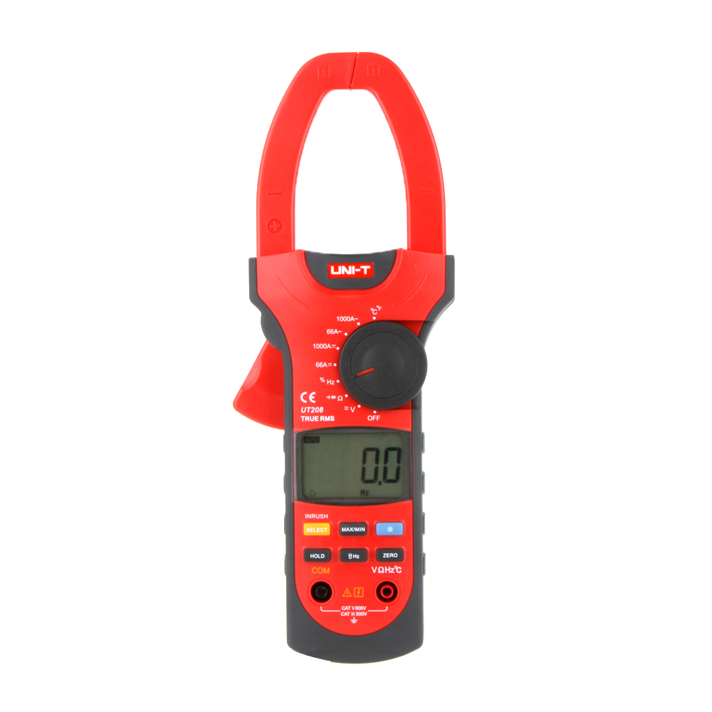 UNI-T UT208 LCD Clamp Digital Multimeter AC DC Voltage Amp Ohm Temp Tester мультиметр uni t uni t ut71b alicate amperimetro ac dc