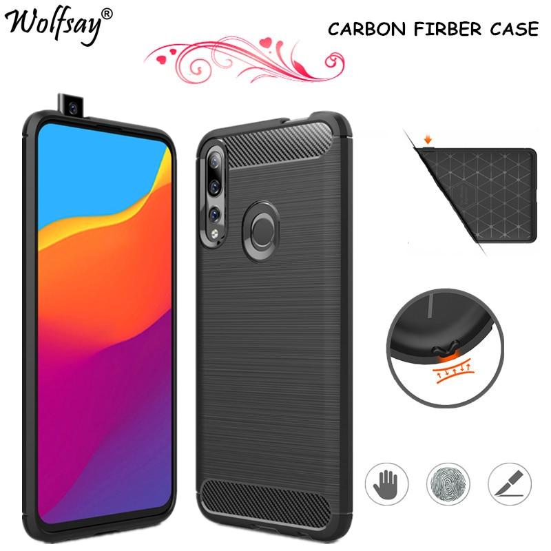Carbon Fiber Cover For Huawei P Smart Z Case Shockproof Bumper Silicon Cover For Huawei P Smart Z 2019 Case Huawei Y9 Prime 2019