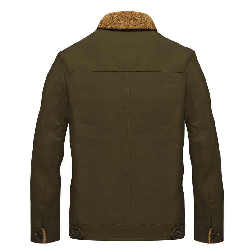 2019 Musim Dingin Pembom Jaket Pria Pilot Angkatan Udara MA1 Hiking Jaket Hangat Pria Bulu Kerah Jaket Tentara Taktis Jaket ukuran 5XL