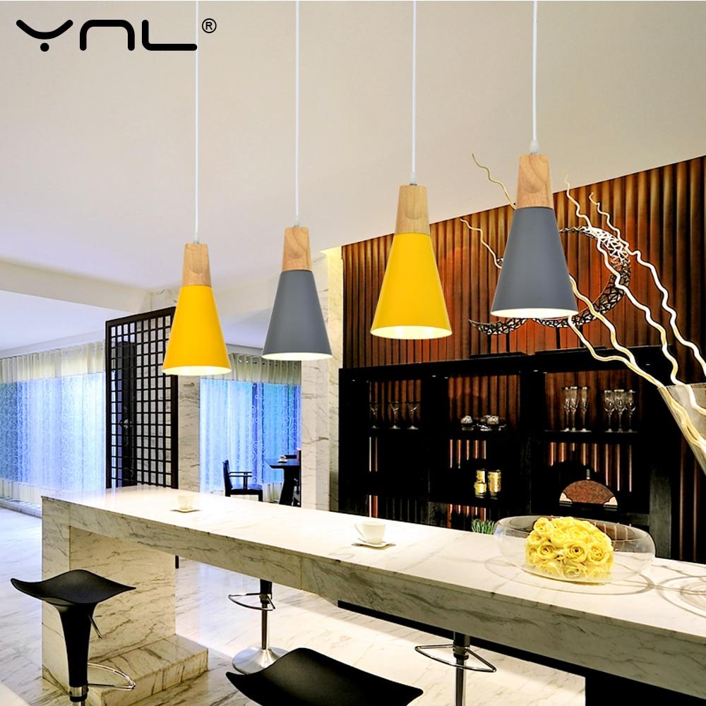 Lampade a Sospensione Dining Room A Sospensione Moderna Colorato Ristorante Cafe Camera Da Letto Illuminazione pendant lights