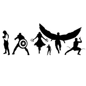 28x10 см Marvel семейная команда Капитан Америка Виниловая наклейка для автомобиля супер герой DC для ноутбука ноутбук наклейки мультфильм TA016