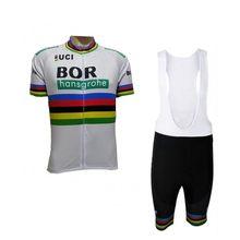 2018 uci pro bora del equipo campeón del mundo blanco Ciclismo jersey kits  hombre verano bicicleta MTB Ropa Ciclismo bicicleta m. 73e1cea8f0f8e