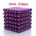 5mm 216 unids metaballs magnética bolas de dinero imán neo cubo mágico juguetes mágicos regalo de año nuevo de navidad de regalo de navidad caja de metal