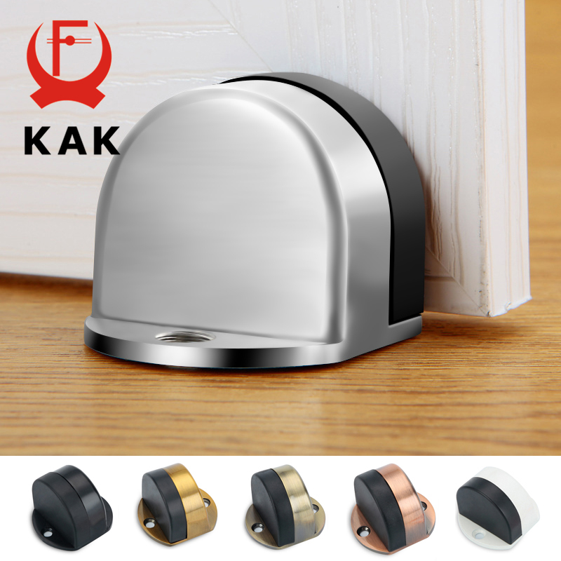 Bujão Da Porta do Aço Inoxidável KAK Não-soco Adesivo à prova de Água-Titular Da Porta Escondida Móveis Porta Batente De Porta de Borracha hardware