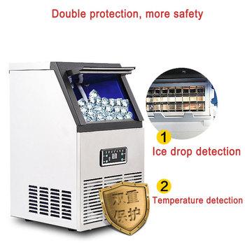 Automatyczna maszyna do produkcji lodów komercyjnych kostkarka do lodu małych firm maszyn lodowa kulka maszyn do herbaty mleka Bar kawiarnia tanie i dobre opinie 40KG 50KG 60KG per 24h Ice ball machine Ice maker machine Milk tea ice maker ice cube maker machine ice making machine portable ice maker