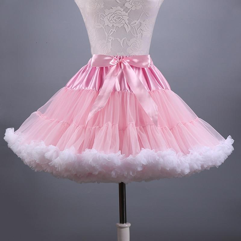 0a8d185f04 2019 New Adult Short Tulle Pettiskirt Colorful Tutu Skirt Crinoline Jupon  Saia for Women