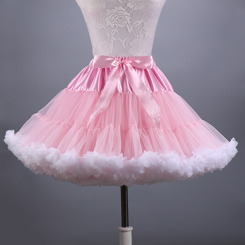 2019 New Adult Short Tüll Pettiskirt Bunte Tutu Rock Krinoline Jupon Saia für Frauen