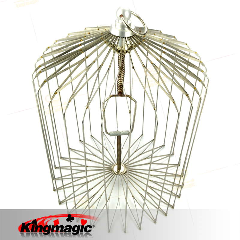 Large Appearing Bird Cage Silver Folding Dove Cage for Magicians Props Magic Metal Magic Bird Cage Wholesale deluxe floating table with appearing bird cage table mult function dove magic tricks stage illusions prop manipulation mentalism