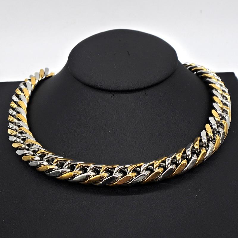 91c98a268278 5mm para niños cadena bizantino caja de cadena de acero inoxidable collar  Multi colores Collar personalizado