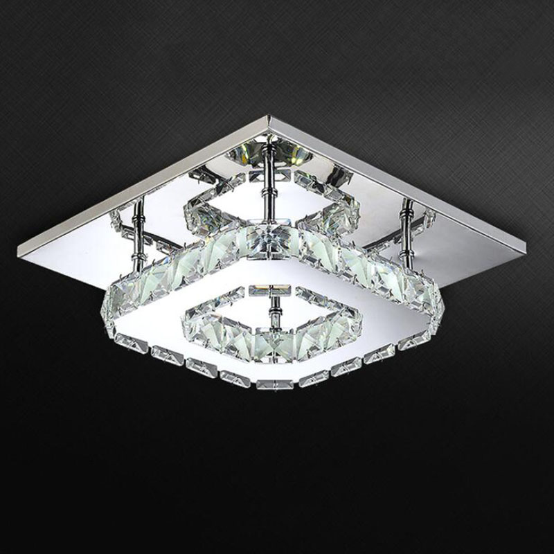 100 Best Corridors Stairs Lighting Images By John: Square LED Crystal Chandelier Light For Aisle Porch