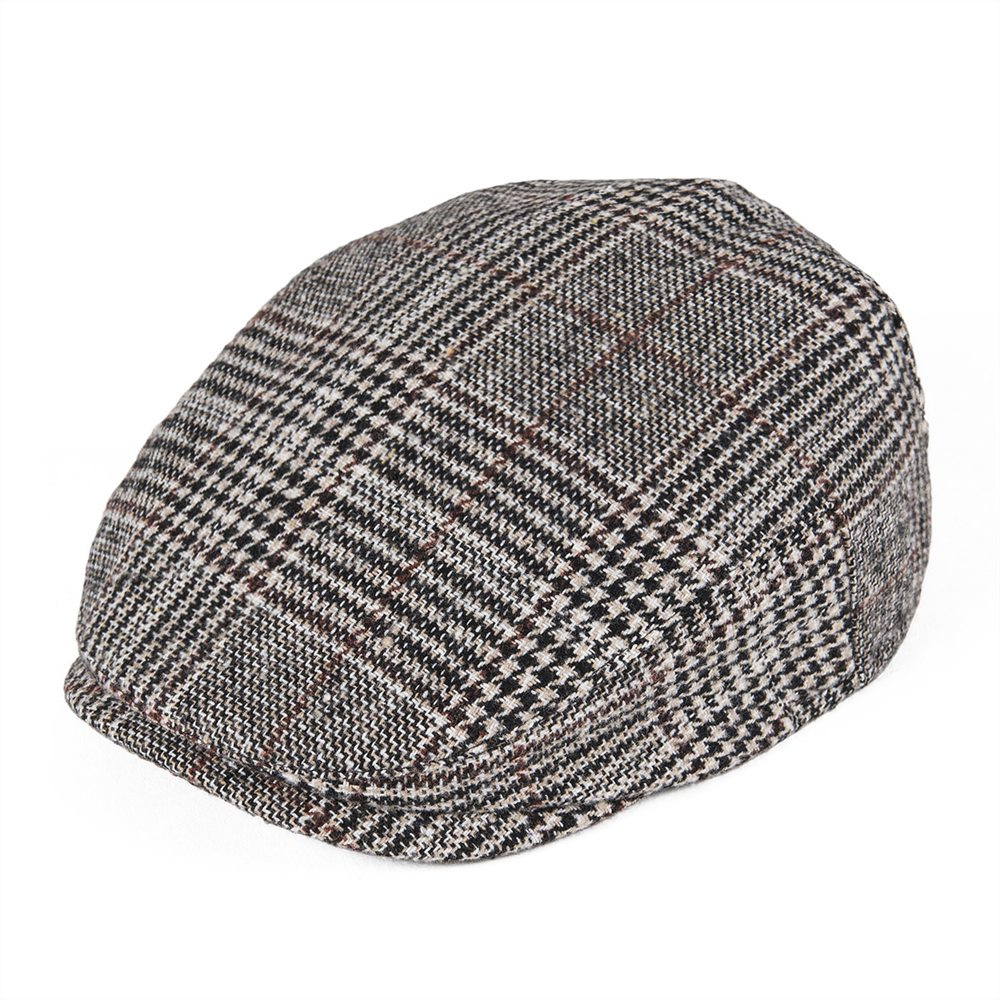 Baby flat cap COTTON PATCHWORK BLUE RED BLACK BROWN CHECK 6-12 MTHS /& 12-24 MTHS