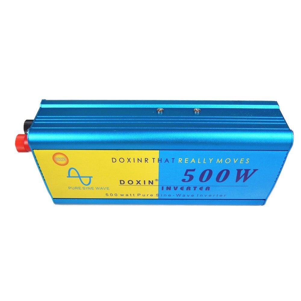 цена на Voltage Converter 12V to 220V 24V to 220V 500W Inverter Pure Sine Wave Solar Car Inverter 500W Power Converter