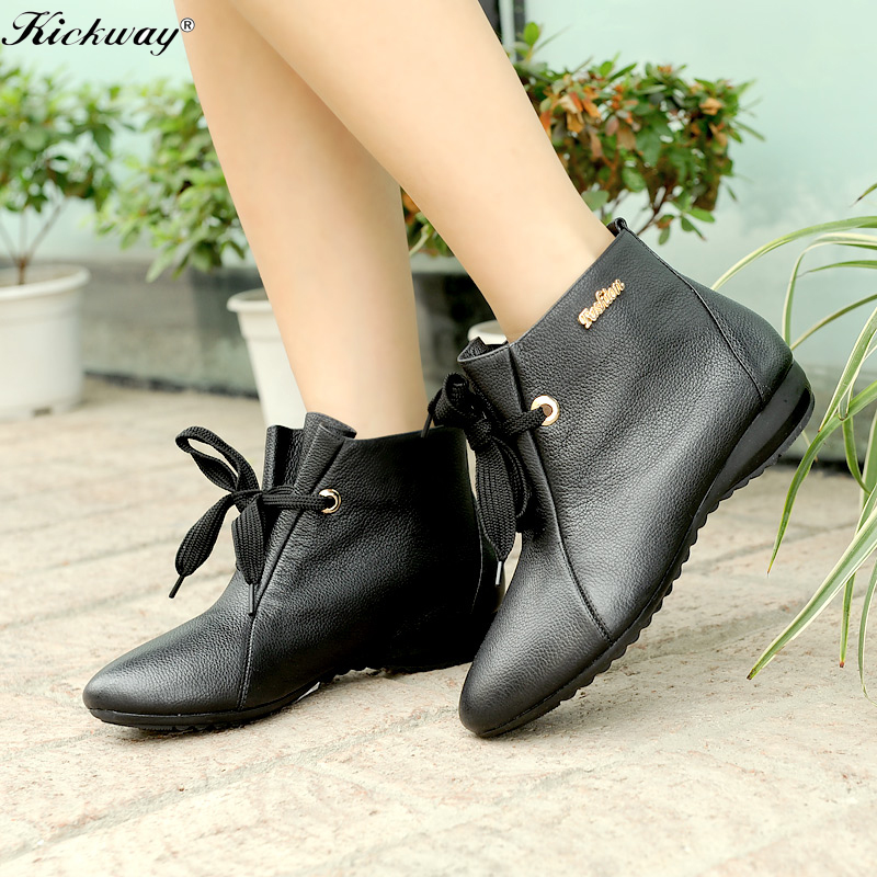 get cheap flat leather boots aliexpress