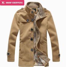 Мужские зимние жакеты, пальто, высокое качество, плюс размер, полушерстяной тренч, пальто, мужские стильные плотные жакеты, пальто, размер 5XL=US, 3XL, G5181