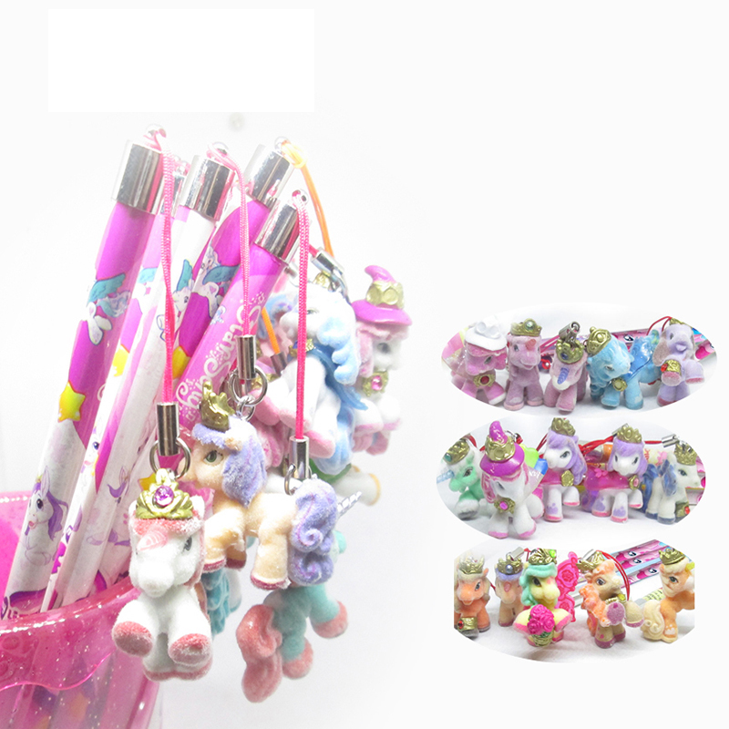 Audacious 40 Pcs Wooden Lead Pencils Plush Unicorn Horse Pendant Squishy Stationery Flexible Pencil Set Cute Pony Butterfly For Girls Gift