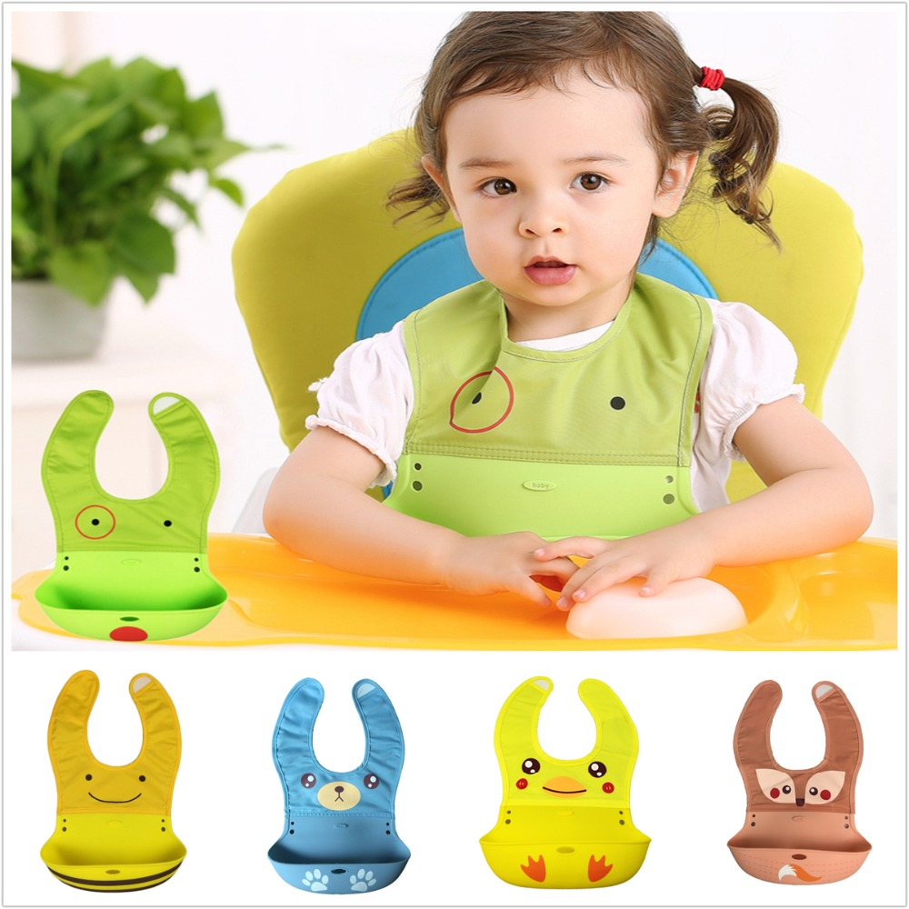 Lion Bear Infant Baby Bibs for babies Silicone 6-24 Months animal bandana bibs Washable Catcher Roll Up Saliva Burp Cloth