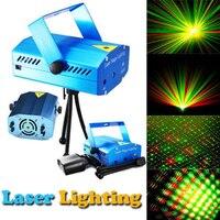 Azul Mini Proyector Láser LED Rojo y Verde Láser Luz de la Etapa láser de Iluminación Para El Partido Del Disco de DJ Bar Club Con LA UE O enchufe