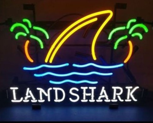 Custom Landshark Lager Neon Light Sign Beer Bar