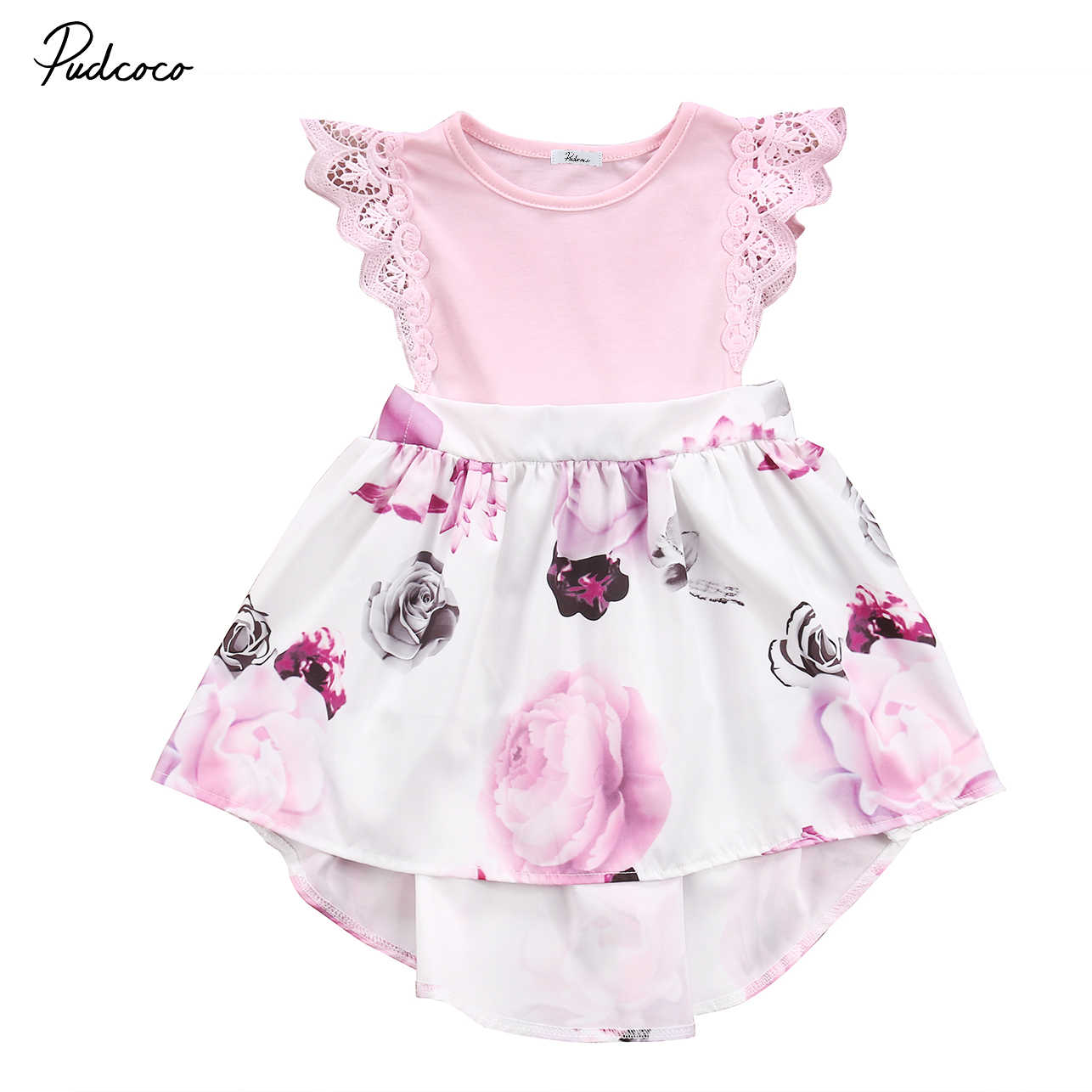 1db37db063e1 ... Cute Toddler Kids Baby Girls Sisters Matching Clothes Outfits Baby  Little Big Sisters Floral Tutu Rompers ...
