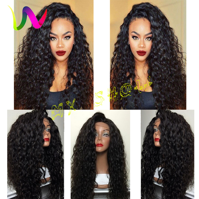 Best Synthetic Lace Front Wigs For Black Women Heat Resistant Curly Hair Wig  Sintetica With Baby Hair Cheap-Wigs Lace Wigs Store 1b9304d687