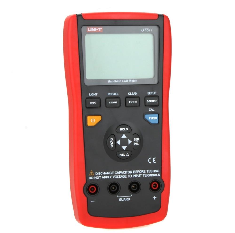 Compteurs numériques LCR UNI-T UT611 UT612 testeurs de fréquence de résistance à l'inductance de contrôle et de mesure intelligents LCR