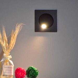 Image 2 - Apextech Recessed 3W 크리 어 LED 침대 옆 독서 벽 램프 현대 노르딕 스타일 침실 야간 조명 빔 각도 자유롭게 조절 가능