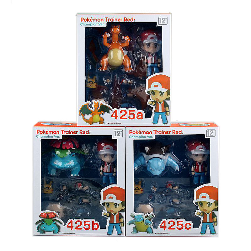 Anime monsterS XY Figures Nendoroid Ash Ketchum 425#ABC 20th anniversary XY action figures Collection Model Toys Doll Gift nendoroid cynthia and garchomp action figures toys anime collectible model 507