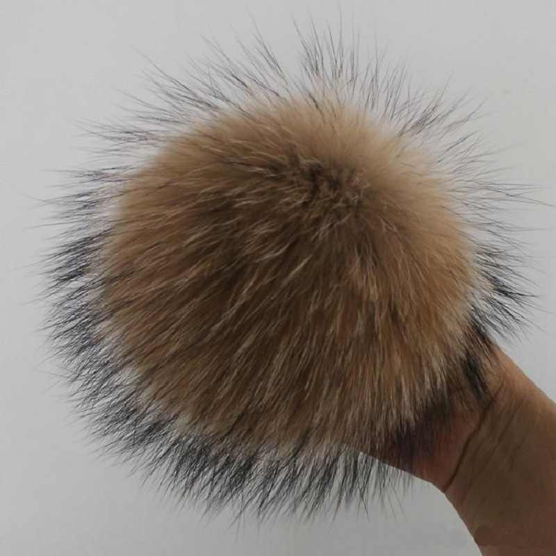 DIY Genuine Real Fur Pompom Fur Pom Poms for Women Kids Beanie Hats Big Size Natural Hairy Ball Poms For Winter Knitted Hats Cap
