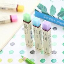 30 pçs/lote cor simples borracha macia para lápis 2b apagadores para crianças presente papelaria ferramentas de escritório material escolar borracha f887